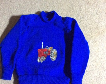 Machine knitted child's jumper