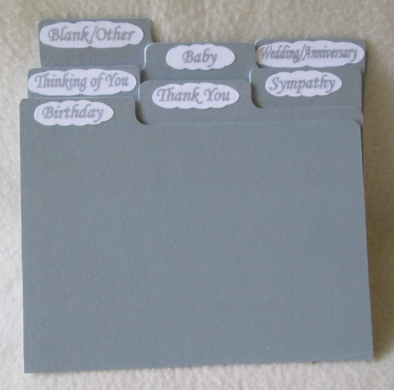 5x7 dividers for greeting card storage box or recipe box m4hsunfo