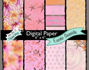 We Are 3 Digital Paper, Exotic Seaside