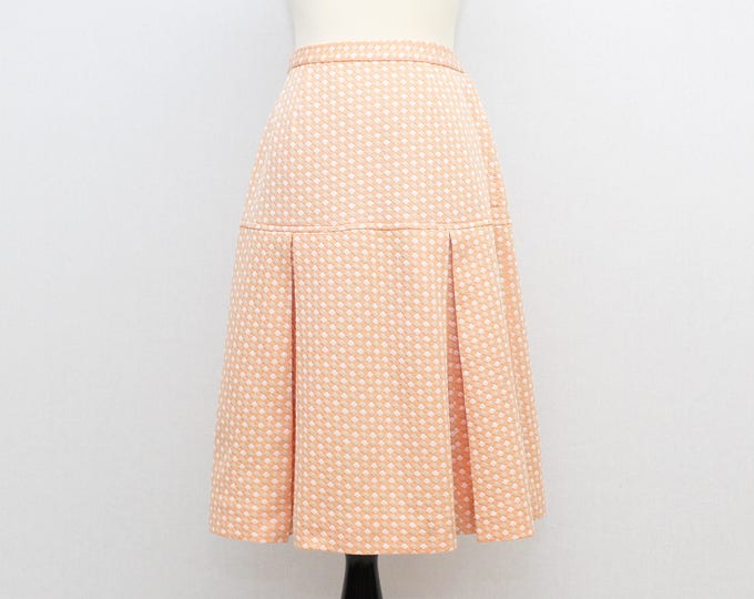 Vintage 1960s High Waisted Skirt - Size Small