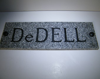 Custom Sign, Family Name Sign, Personalized House Plaque, Granite House Plate, Stone Plaque