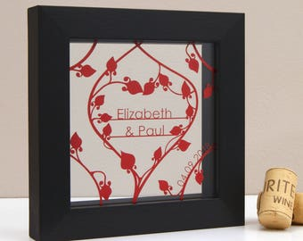 Personalised Mini Floral Heart Wall Art