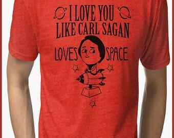 Carl Sagan Funny   Tri-blend T-Shirt