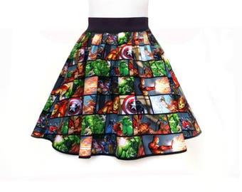 Women Dress, Super Hero Dress, Captain America Dress, Hulk Dress, Iron Man Dress, Thor Dress, Avengers Party Dress