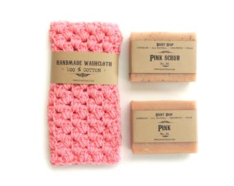 Girlfriend Gift Birthday Gift Set for Wife Gifts for Her Women Gift for Mom Gift for Mother Natural Soap Washcloth