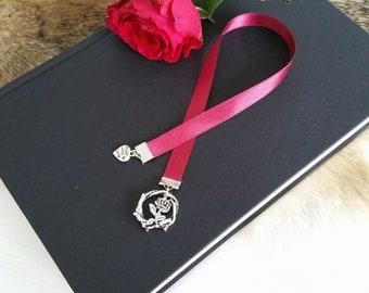 Ribbon Bookmark ' thorns and Roses '