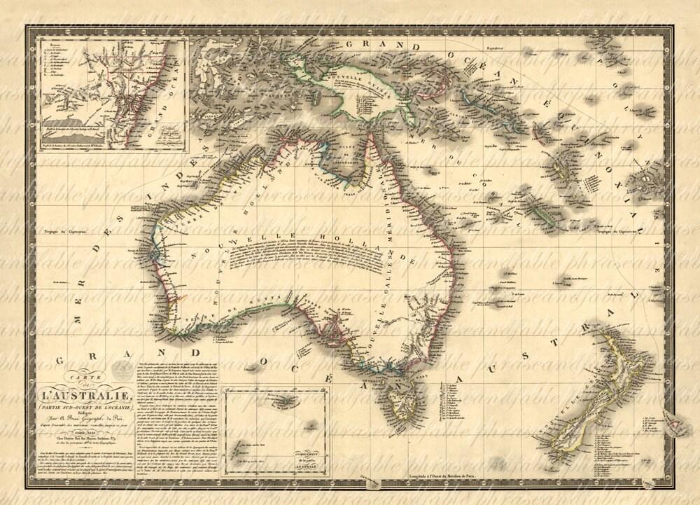 australia map 1800