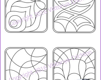 Strings for drawing zentangles_12. Zentangle starter pages. Tangle pattern printable string, PDF.