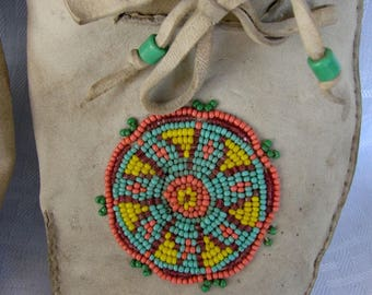 Old Native American Indian Moccasins - Beaded Leather Moccasins - Handmade Moccasins