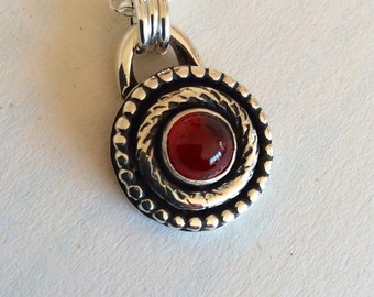 Desert Sun - Garnet Sterling Silver Necklace