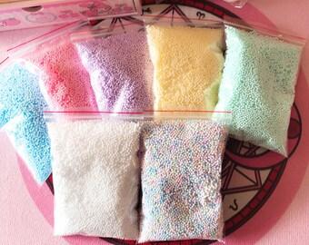Pastel Foam Beads 1 Bag - Foam / Floam / Slime / Foam Beads / Foam Beads for Slime / Slime Supplies / Slime Beads / Crunchy Slime