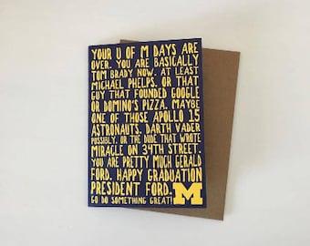 University of Michigan Graduation Card