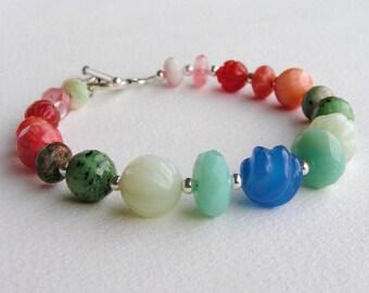 QUITE CONTRARY - Multi Color Gemstone Bracelet