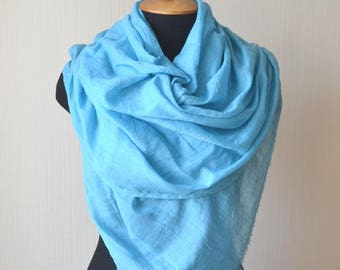 cotton scarf outdoors gift blue gift mom blue scarf spring gifts|for|her womens gift|for|women fashion scarf womens scarves pashmina scarf