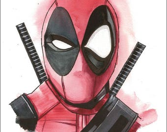 "Deadpool Print by Kevin L. Kuder - 8.5""x11"""