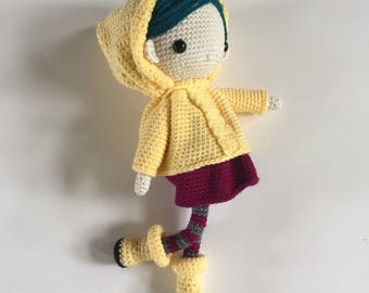 Coraline Doll - Handmade Coraline Doll - Amigurumi Doll - Plush Doll - crocheted doll