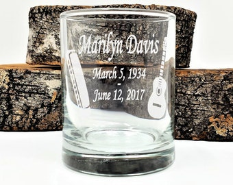 Memorial Candle Holders Custom Personalized Celebration Of Life Votive Holders 50 pcs. In Loving Memory Guitar and Harmonica