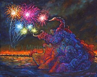 Max Toy Co Kaiju Zanga Original Acrylic Painting by Mister Reusch