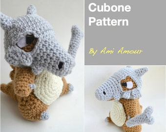 Cubone amigurumi pattern Pokemon crochet