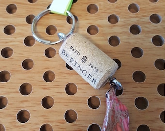 Repurposed wine cork Key chain