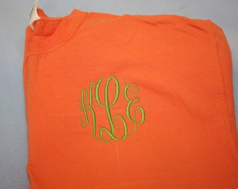 Comfort colors tee spring short sleeve tee  - spring color with Monogram initials