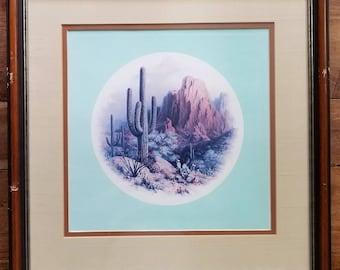 Dalhart Windberg Signed Print, Four Faces of America, Our Desert's Bounty, Dalhart Windberg, Modern Art