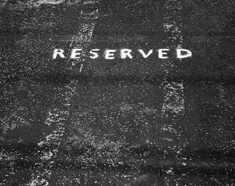 Photography - Parking Resevado. Image of art. Street photography. Fine arts. Minimalist.