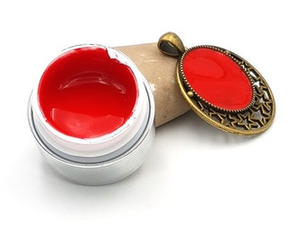 UV gel opaque red color for creations in resin