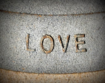 Photography Print Stone Love