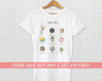 Unique Women's Shirt, Artist's Diet Tee, Artists Gift, Gift for Her, Graphic Shirt