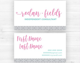 Rodan and Fields Business Cards   Customized Printable