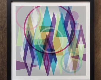 Abstract Colourful shapes Framed Art Print Geo-ART92