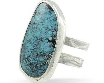 One of a Kind Sterling Silver Turquoise statement ring