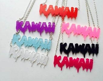 Kawaii! Necklaces, fits unique, pastel goth, harajuku and other street styles! Multiple color choice
