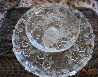 glass centerpiece/serving tray