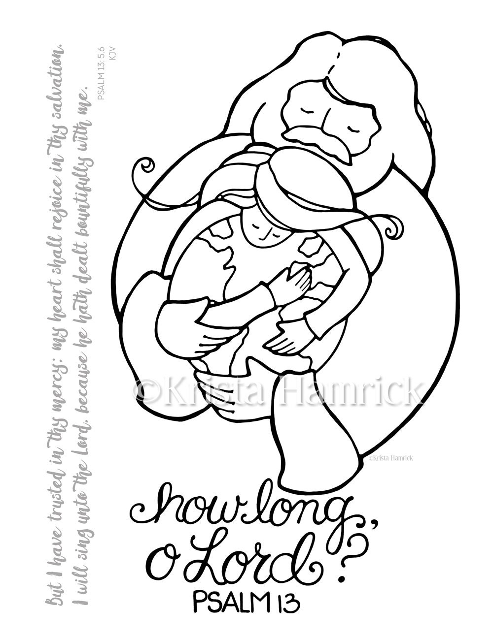 zoom - Psalm 8 Coloring Page