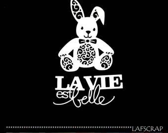 Cuts scrapbooking scrap animal Easter rabbit plush toy blanket scrap paper embellishment die cut