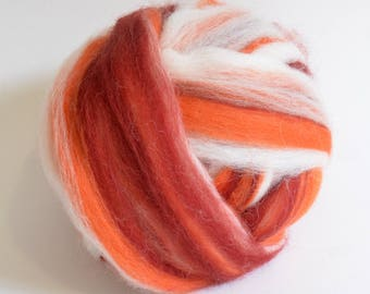 Shetland Wool Combed Top - Cinnamon Mix - Conservation Breed - 100 grams