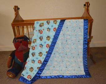 Baby/Toddler Quilt - Snow Monkeys, penguins, and polar bears