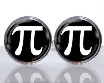 Round Glass Tile Cuff Links - Geek Wear Pi CIR115