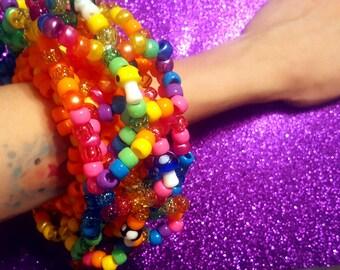 Trippy champignons - UFO Kandi brassard 3D - EDM - Rave