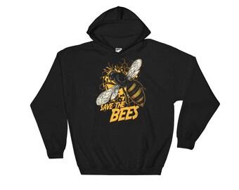 Save the Bees Hooded Sweatshirt