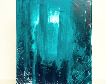 "Petite Abstract No. 16 - original 8"" x 10"" textured acrylic abstract painting"