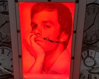 Dexter inspired clock with changeable led lighting