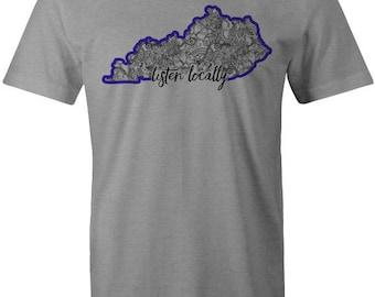 Listen Locally Kentucky T-shirt