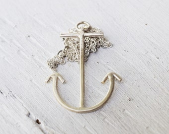 Sterling Silver Anchor Necklace - Anchor Jewelry - Nautical Jewelry - Navy  - Sailor - Salt Life - Mothers Day - Florida - Coastal -  Luck