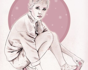 Michelle Williams illustration / drawing