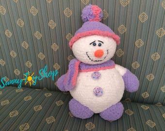 Knitted Snowman, Plush snowman, Christmas, new years, amigurumi Snowman, Christmas gift, baby gift