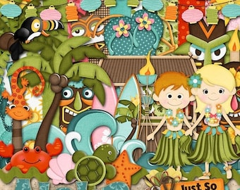 On Sale 50% Aloha Digital Scrapbook Kit - Digital Scrapbooking