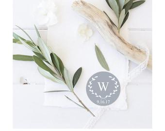 Wedding stickers, Monogram stickers,  personalized wedding seal, custom thank you stickers, Grey Gray favor stickers, wedding favor stickers